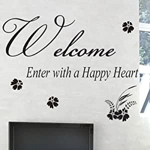 amazing sticker Small Welcome Quotes Lettering Window Wall ...