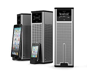 Revo K2 Multi Format Tower Radio with Wireless Audio Streaming and Docking for iPod, iPhone and iPad