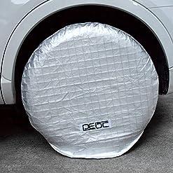 DEDC 4 pz. Set Auto Ruota Copertura Alluminio Pellicola Pneumatico Protezione Antiruggine Camion 27″a 29″ Diametro con Il Sacchetto di Stoccaggio