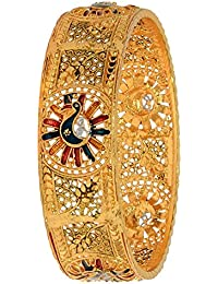 Aabhu Gold Plated Enamel Style Gold Plated Bangle Kada Set Jewellery For Women And Girl - B078D6RRW2