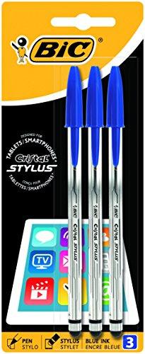 stylus tablet Bic Cristal Stylus Penna a Sfera Cristal con Pad per Touchscreen