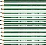 Matita colorata triangolare - STABILO Trio thick - Confezione da 12 - Verde