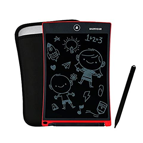 RAINYEAR 8.5 Inch Electronic Writing Board LCD Writing Tablet, Accompanied with 8.5 Inch Dedicated Sleeve Case, LCD Writing & Drawing Tablet