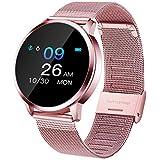 Smartwatch, Impermeable Reloj Inteligente Mujer Hombre, Pulsera Actividad Inteligente Reloj Deportivo Reloj Fitness con Monitor de sueño Pulsómetro Cronómetros para iOS Android (Rosado)
