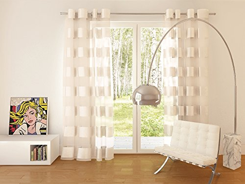 Splendid collezione florence - tenda con occhielli, 140 x 245 cm, bianca (écru), 1 pezzo