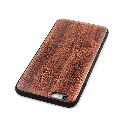 over iPhone 6 Plus e 6S Plus, Snugg Apple iPhone 6 Plus e 6S Plus Custodia Case [Vero Legno] TPU Ultra-Slim Protettiva Pelle - Palissandro Rosewood