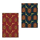 Harry Potter 2200003365 Fleece Decke, Polardecke, Flanell, Mehrfarbig