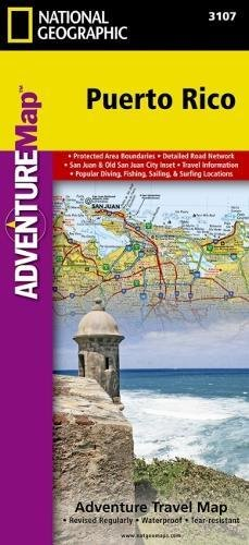 Puerto Rico: Travel Maps International Adventure Map
