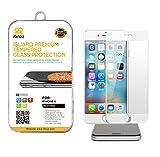 iBroz - iPhone 6 & 6S (4.7') - Protection Ecran en Verre Trempé iGUARD FULL COVER 3D Premium Anti Chocs et Casse, Anti Empreintes Digitales et Gras, Bords Arrondis, Dureté Max 9H, Haute Définition 99%, pour iPhone 6 & 6S (Fond Blanc) - Couverture complète de l'écran
