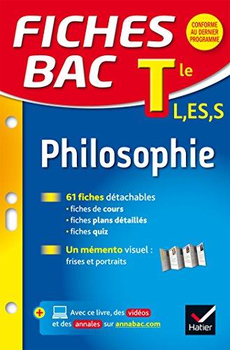 Fiches bac Philosophie Tle L, ES, S: fiches de ré...
