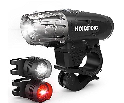 Fahrrad-Licht-Scheinwerfer + Rücklicht USB-Aufladbares Fahrrad LED Beleuchtet Installationssatz, 300 Lumen Fahrrad-Licht, Fahrrad-Zusätze Fahrrad-Scheinwerfer, Fahrrad LED-Licht, 4 Beleuchtungs-Modi, Wasserdicht
