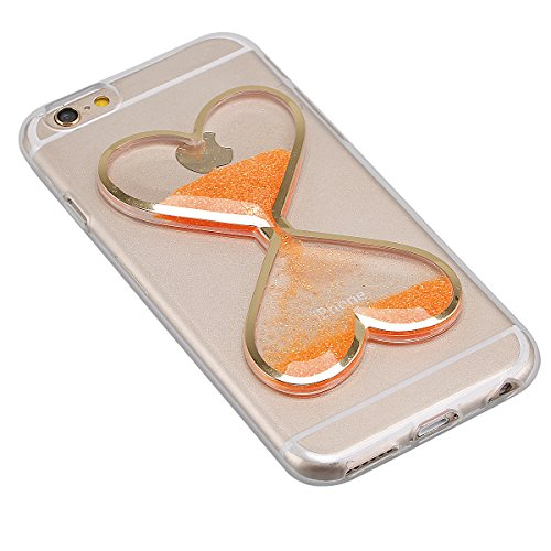 "Housse pour Apple iPhone 6Plus/6sPlus 5.5""(NON iPhone 6/6s 4.7""), CLTPY 3D Coloré Scintillement Placage Bordure Case, Ultra Léger Mince Hull de Protection Absorption des Choques pour iPhone 6Plus,iPho Orange"