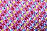 Jerseystoff Süßigkeiten pink | 1,55 Meter breit | wird in 0,1 Metereinheiten am Stück verkauft