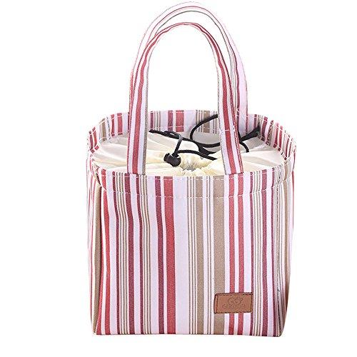TEBAISE Lunch-Paket Lunch Tote Isoliertasche Kühltasche Lunchbox Lunch Tasche Mittagessen Beutel Picknicktasche Thermal Mittagessen Tasche Kühltasche Thermotasche Isoliertasche Tasche Lunchtasche