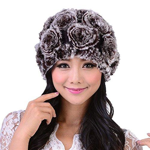VRTUR Damen Winter Warme StrickMütze Baumwolle Mütze Handarbeit Warm Kappen Kopfbedeckung Hut Neverless (Kleine Mädchen Braut Von Frankenstein Kostüm)