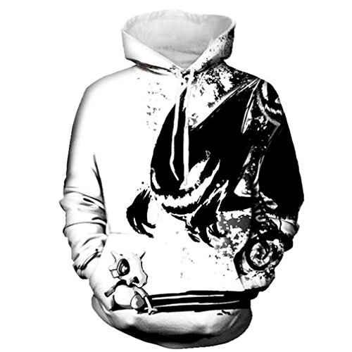 Mode Sweatshirts Männer/Frauen 3D Hoodies Drucken Tinte Schädel und Kleine Drachen Hooded Hoodies dünne Pullover DM163 XL