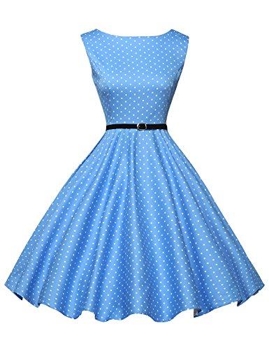 Donne vestiti estivi vintage casual cocktail vestito cotone 1# large