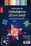 Faltstreifen für Fröbelsterne Weihnachtszauber, 10mm breit: 12 Designs à 12 Streifen, 80 g/m², 60 x 1,0 cm
