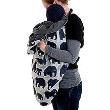 Bundlebean, Cobertor funda de invierno para mochilas portabebé Elefantes