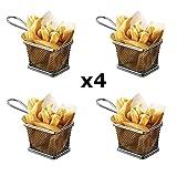 StillCool Cestelli per Friggitrice in Acciaio Inox Mini cestino per patatine fritte set da 4