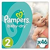 Pampers Baby Dry Windeln, Gr. 2 (3-6 kg), 1er Pack (1 x 46 Stück) -
