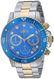 Invicta Men's 'Pro Diver' Quartz Stainless Steel Diving Watch, Color:Two Tone (Model: 21892)
