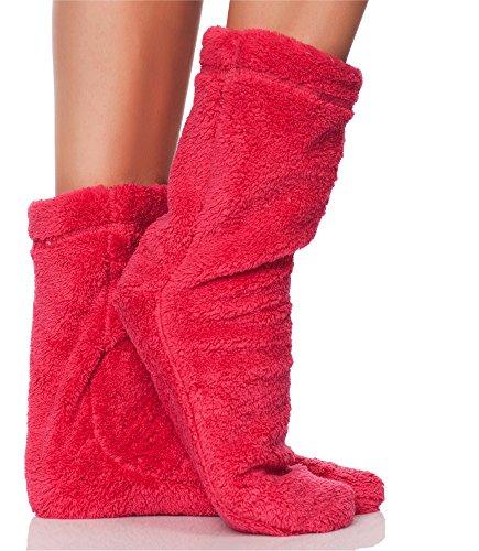 L&L Damen Warme Winter Socken Colorful (Hibiskus, 36/38)