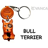 [Handmade made in Japan, new, craftsman] [VANCA present leather keychains Bull Terrier dog anywhere demo (japan import) by VANCA (Banca craft) Leather story