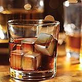 Whisky Steine Ice Cubes 8er Set + Stoffbeutel von VINENCO | 8 Wiederverwendbare Edelstahl Kühlsteine | Whiskey Rocks Eissteine Cooling Stones | Eiswürfel Ersatz für Cocktails, Drinks – Kein Verwässern - 3