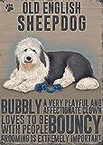 Old English Sheepdog Metal Plaque