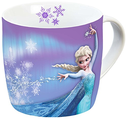 Disney 12753 Elsa Tazza in Porcellana, Multicolore, 11,5 x 8 x 8 cm