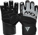RDX Fitness Handschuhe Trainingshandschuhe Lang Handgelenkstütze Sporthandschuhe Gewichtheben...