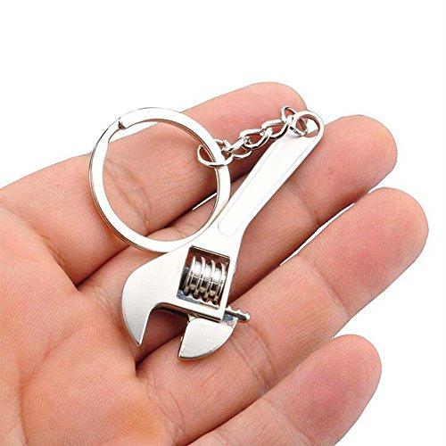 Lukame Schlüsselring Einstellbar Mini Simulation Metall Schraubenschlüssel Werkzeug Schlüsselbund Schlüsselanhänger Spielzeug Keychain -
