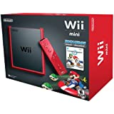 Wii Mini - Console, Black/Red con Mario Kart Wii [Bundle]