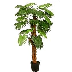 künstliche Fächerpalme 1,80 m Kunstpalme Kunstbaum Kunstpflanze Palmenbaum - McPalms