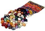 Edelstein-Set 'Colludo' | Natürliche Trommelsteine in verschiedenen Größen | Praktisch im bunten Stoffbeutel | Ideal für Kinder, zur Dekoration, als Heilsteine &...