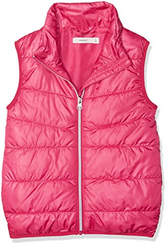 NAME IT Mädchen Weste Nmfmylan Vest, Rosa (Bright Rose Bright Rose), 110