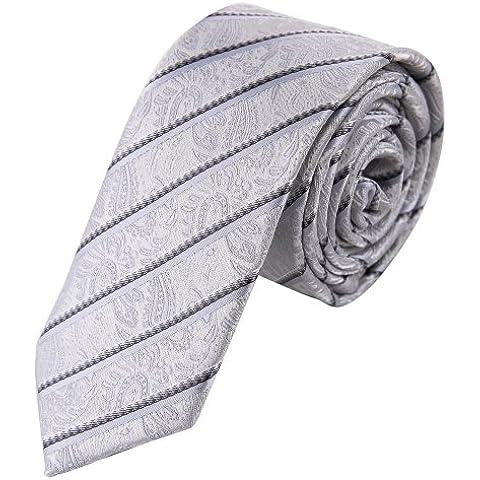 EAE1F03 Miglior moda multicolore Mens Silk Skinny Tie Equipaggiata Tessuto Di Epoint