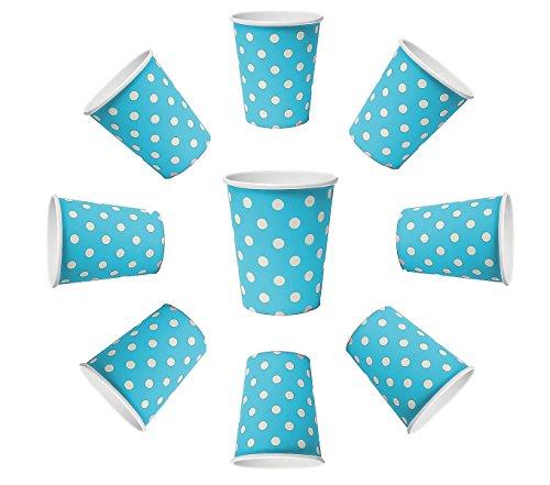 BlueBD 100X vasos 230ml Dots Azul, vasos de papel, vasos...