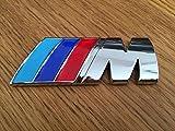 scritta logo bmw m in abs colore argento adesivo qualita 3m