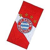 FC Bayern München Badetuch / Duschtuch / Strandtuch Logo FCB - plus gratis Aufkleber forever München