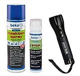 Beko Set Mailight mitLED Taschenlampe TL3, TecLine Insektenspray und CareLine Insektenstop