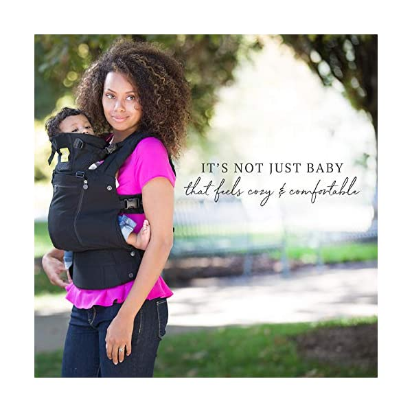 LÍLLÉbaby  Complete All Seasons 6-in-1 Baby Carrier, Black Lillebaby With a temperature regulating breathable panel that unzips to encourage airflow in warm conditions and 6 carrying positions - Foetal, infant inward, outward, toddler inward, hip, back - The only carrier you'll ever need! Suitable from 3.2- 20kg (birth to approx. 4 years old), providing extended comfortable use for parent and child with no additional infant support required for new-borns - the ergonomic adjustable seat is acknowledged as 'hip-healthy' by the International Hip Dysplasia Institute Unique spacious head support with elasticated straps - soothes infants with gentle lulling motion and provides excellent support as children grow 4