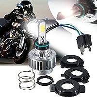 AMBOTHER Motorcycle Headlights H4 LED HID Headlamp Bulb Kit White 3000LM 6000K PWIXOGKK36