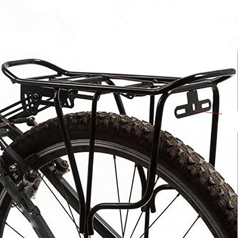 Hunpta Dos arrière Sac Porte-bagages en alliage pour tige de selle de vélo Cadre de transport support NEUF, noir