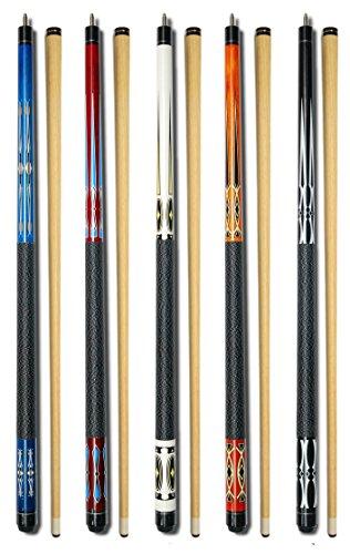 Set von 5Pool Queues New 147,3cm Billard House Bar Pool Cue Sticks gj-1~ gj-5