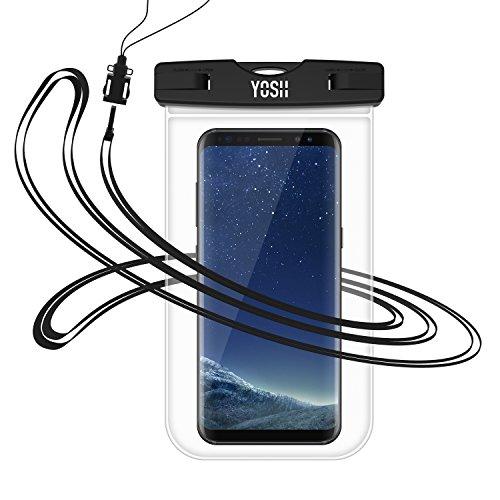 Fotografie Tasche (Wasserdichte Handyhülle Hülle Tasche Beutel YOSH® für IPhone 8 7 6 6s Plus Schnorcheln Tauchen Samsung S6 S7 S8 Note schneegeschützt Unterwasser Fotografie LUMIA 950 Huawei P8 P9 P10 BQ Aquaris Moto, bis zu 6 Zoll.)