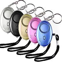 Aboat 5 PCS Alarma Personal, llavero electrónico de la alarma del dispositivo de la autodefensa 130db con la luz del LED para las mujeres/los niños/las muchachas/los ancianos/la seguridad/al basculador/al estudi
