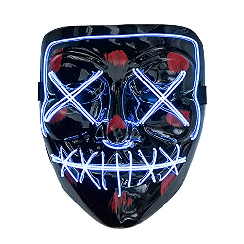 LED Halloween Masken,Erschreckend LED leuchten Maske,Für Festival,Cosplay,Halloween,Kostüm,Batterie Angetrieben(nicht enthalten Batterie)