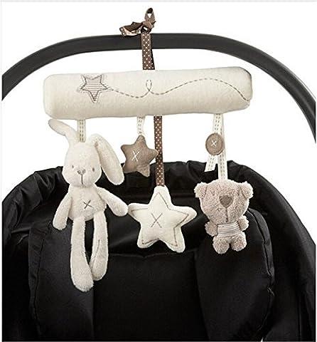 A-goo Baby Cute Music Plush Activity Crib Stroller Soft Toys Hanging Rabbit Star Shape